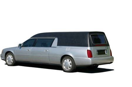 mortuary transport vehicle for Stock Photo