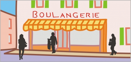 frontage: BAKERY STORE Illustration