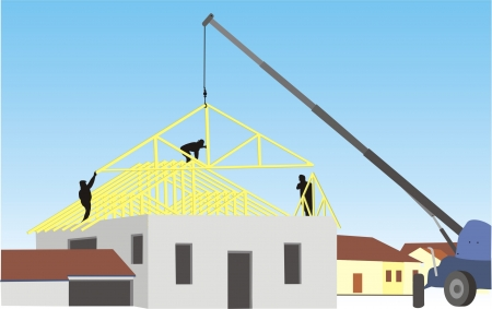 HOUSE BUILDING Illustration