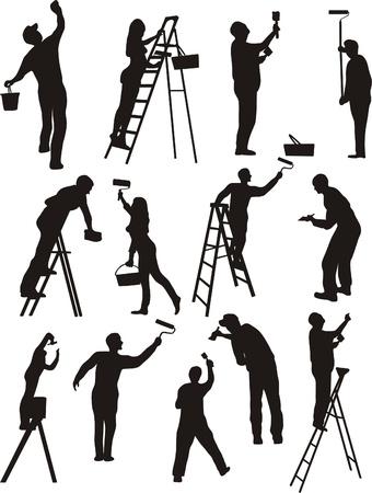 pintor de casas: Pintor y la pintura
