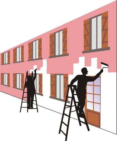 house painter: EXTERIOR PAINT Illustration