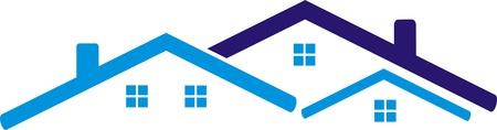 hospedaje: La construcci�n del techo Vectores