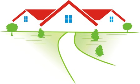 country side: COMMUNITY IN THE COUNTRY SIDE Illustration