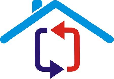 Huis beschermd Stock Illustratie