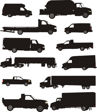 TRANSPORTATION AND TRUCKS Vector
