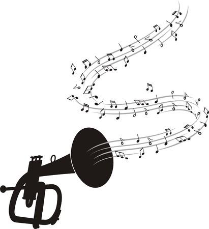 MUSICAL TRUMPET Illustration