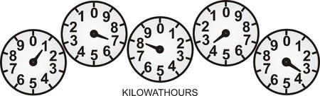 electric meter: KILOWATT Illustration