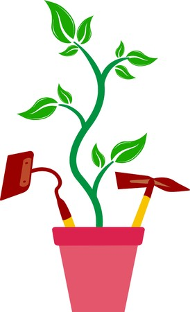 tree service pictures: POTTED PLANT Illustration