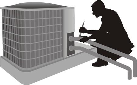 CLIMATISATION EN RENOVATIE Stock Illustratie