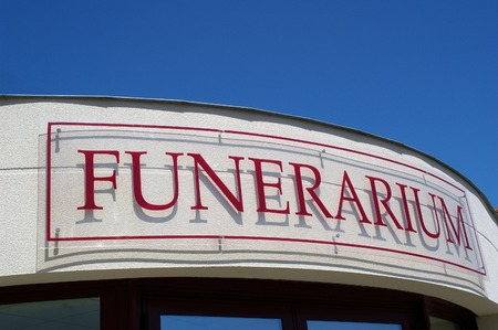FUNERARIUM Stock Photo