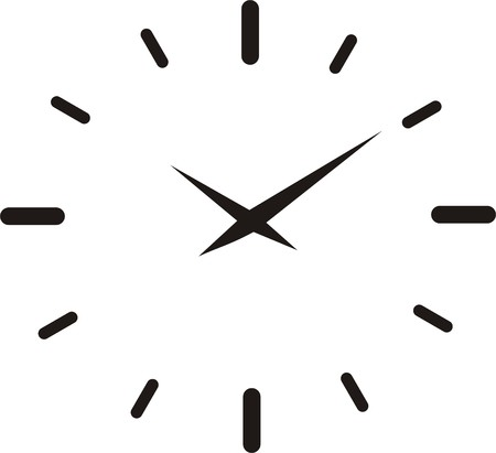 pendulum: clock on white
