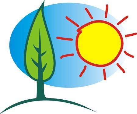 sun energy: SUN AND ENERGY Illustration