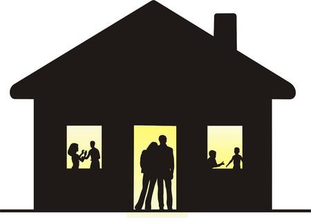 FAMILY HOUSING Vector