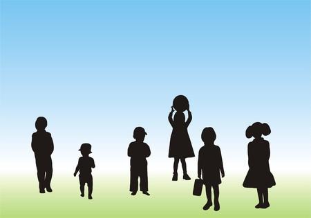 children play: CHILDREN AT PLAY Illustration
