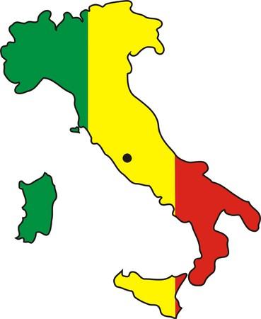 italian flag: ITALIAN FLAG Illustration