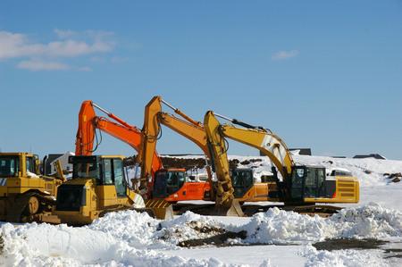 equipment: SNOWY EQUIPMENT Stock Photo