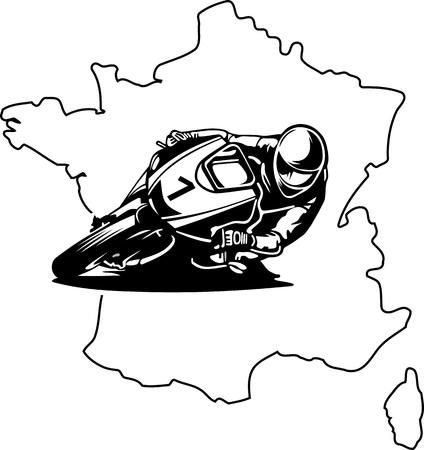 BIKER IN FRANCE Illustration