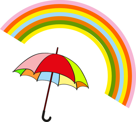 AFTER THE RAIN ONE DISCOVER THE COLORS OF THE RAIMBOW Illustration
