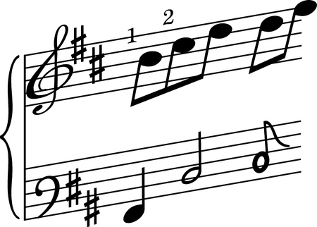 Musical departure on a solfege.
