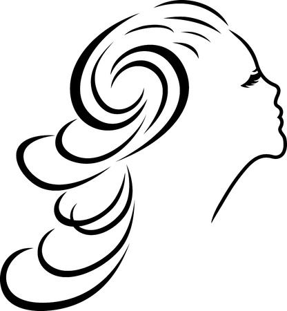LONG FEMININE HAIR AND BUCKLE