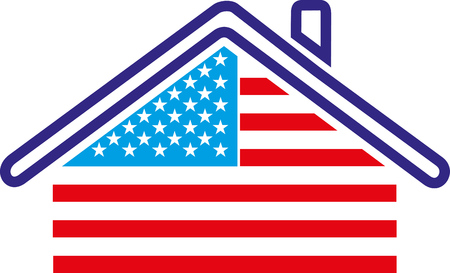 AMERICA HOUSE REPRESENTED BY THE FLAG