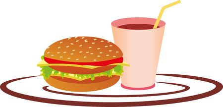 FAST FOOD SERVICE WITH DRINK