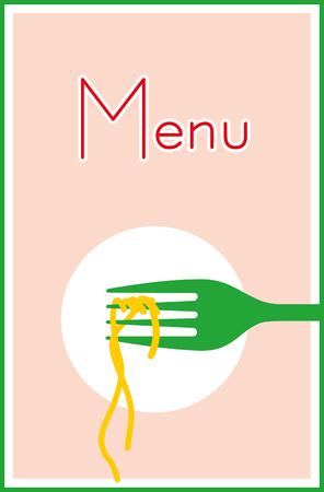 Invitation to pasta meal restaurant. Illustration