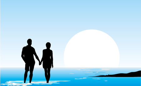 The desire to go to sea and escape illustration.