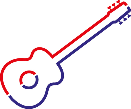 Guitar icon isolated on white