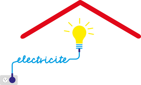 Electrical service in the home. Stock Illustratie
