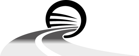 ROAD ENTERING A ROUNDED TUNNEL
