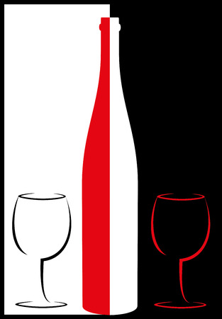 DRINK SERVICE BASED ON WHITE AND RED Standard-Bild - 111668989
