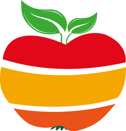 THE APPLE IS THE APPRECIATED FRUIT 向量圖像