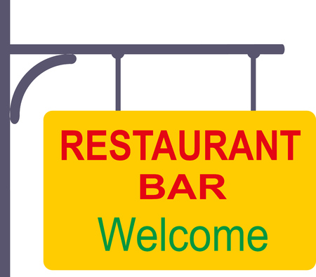 WELCOME TO BAR AND RESTAURANT Stock Illustratie