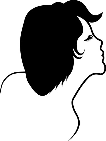 SILHOUETTE OF A FEMALE FACE