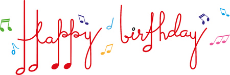 HAPPY BIRTHDAY IN MUSICAL NOTES