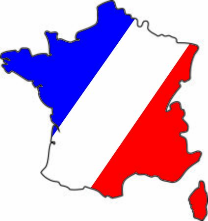 TRICOLOR FLAG REPRESENTED IN FRANCE