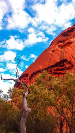 ayers: Red rock in Uluru-Katatjuta National Park, Australia Stock Photo