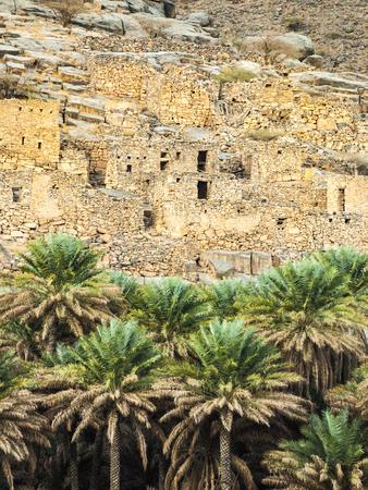 Ancient village ruins, Oman Stock Photo