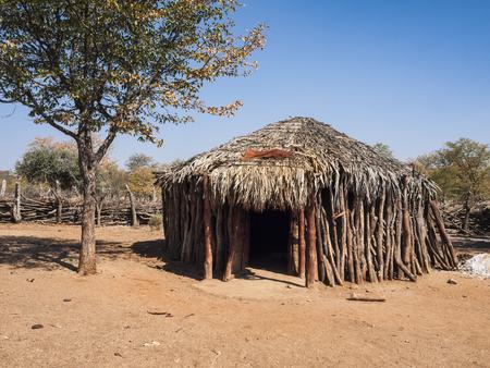 nomadism: Himba village, Epupa Falls, Namibia