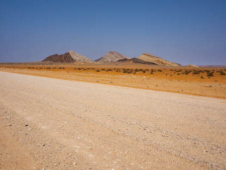 Gravel road to Solitaire, Namibia