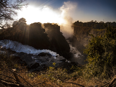 The Victoria Falls in Zimbabwe, Africa