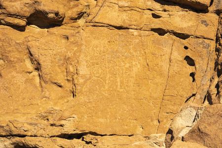 Prehistoric cave engravings near San Pedro De Atacama, Chile