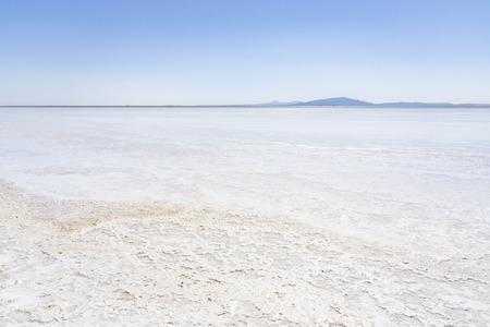 Lago salato Asale nella depressione della Dancalia in Etiopia, Africa Archivio Fotografico