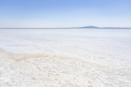 Salt lake Asale in the Danakil Depression in Ethiopia, Africa Stockfoto