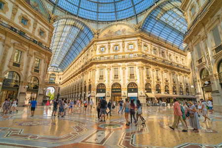 Milan, Italy - 09 09 2020: Galleria Vittorio Emanuele II in Milan city center in Italy.