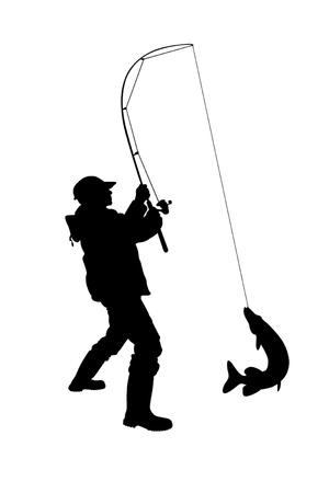 pecheur: Illustration - vecteur pêcheur