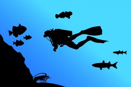 oxygen mask: Diver