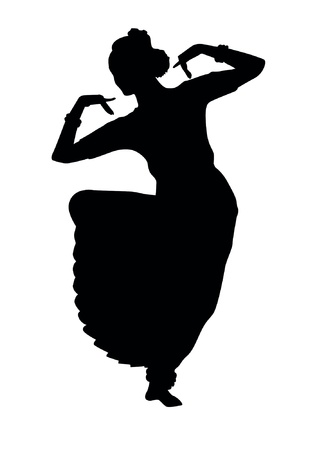 Indian dancing Vector