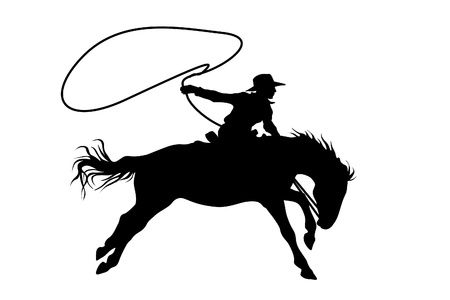 cowboy on horse: cowboy Illustration